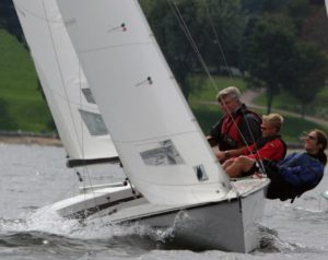 Lightning upwind with Susie, Colby, and Bill