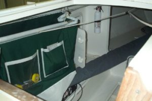 Companionway bag, side view